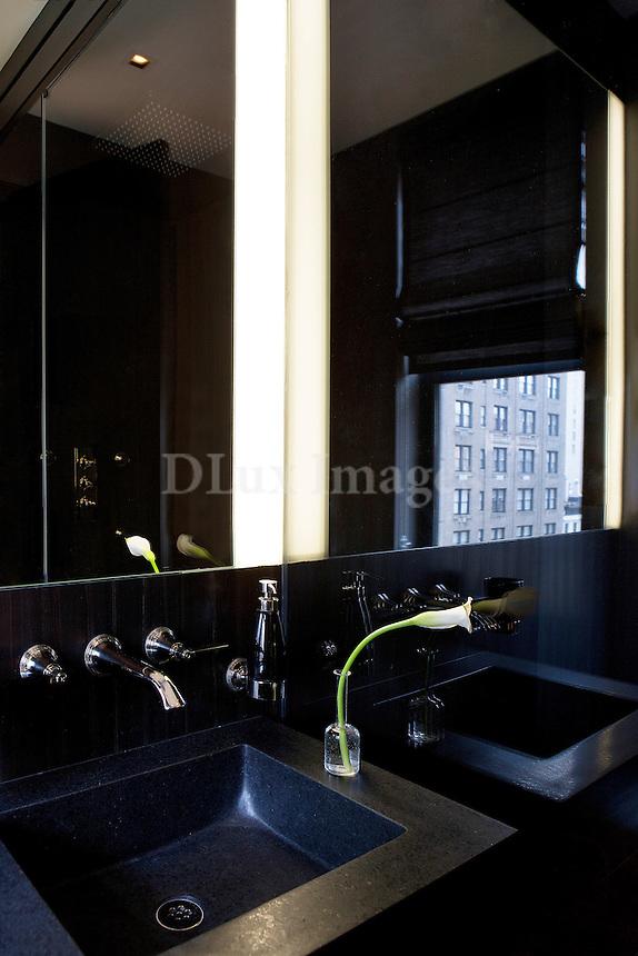 Contemporary black sink