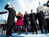 Washington, DC - January 20, 2009 -- United States Vice President Joseph Biden, left, takes the oath of office as Vice President of the United States on the West Front of the U.S. Capitol in Washington, D.C., Tuesday, January 20, 2009. .Credit: Chuck Kennedy - Pool via CNP