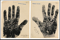 BNPS.co.uk (01202) 558833.Picture: collect..The handprint of Max Planck, scientist..An incredible collection of signed handprints of famous names from 1920s Germany including Albert Einstein and Marlene Deitrich has come to light. Prints of composers Richard Strauss and Igor Stravinsky, filmmaker Fritz Lang, painter Max Liebermann, playwright Bertolt Brecht and gay rights pioneer Magnus Hirschfeld also feature in the fascinating set by German palmist Marianne Raschig. ..She spent 60 years taking more than 2,000 handprints of around 1,000 leading artists, actors, scientists, musicians and writers in Berlin. Raschig collected the handprints between the 1870s and 1930s for a study into what the lines and shapes of hands could reveal about a person's character. Her collection is now set to sell for more than £90,000 at auction.