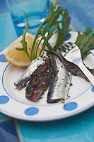 Europe/France/Bretagne/56/Morbihan/ Belle-Ile-en-Mer/Locmaria:  Sardines à la Belliloise recette de Marguerite Gabillet du restaurant Chouk'azé
