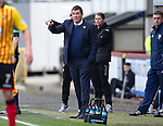 Partick Thistle v St Johnstone.....14.03.15<br /> Tommy Wright attempts to direct his team<br /> Picture by Graeme Hart.<br /> Copyright Perthshire Picture Agency<br /> Tel: 01738 623350  Mobile: 07990 594431