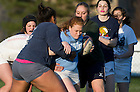 April 11, 2012; Women's rugby practice. Photo by Barbara Johnston/University of Notre Dame