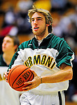 12 December 2010: University of Vermont Catamount forward Matt Glass, a Redshirt Junior from Underhill Center, VT, warms up prior to action against the Marist College Red Foxes at Patrick Gymnasium in Burlington, Vermont. The Catamounts (7-2) defeated the Red Foxes  75-67 notching their 7th win of the season, and their best start since the '63-'64 season. Mandatory Credit: Ed Wolfstein Photo