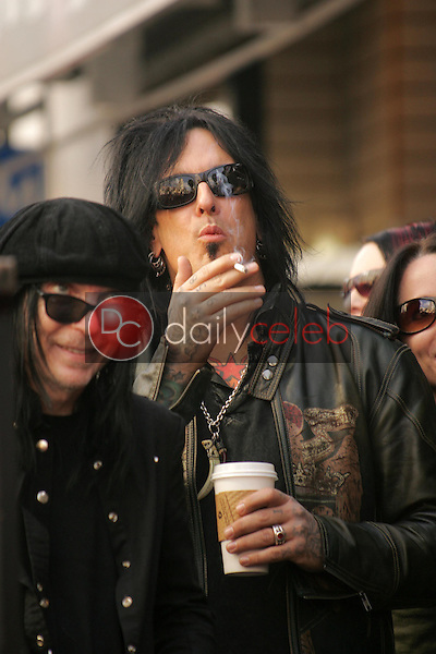 Motley Crue<br />at the ceremony honoring them with the 2,301st star on the Hollywood Walk of Fame. Hollywood Boulevard, CA. 01-25-06<br />Dave Edwards/DailyCeleb.com 818-249-4998