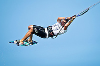 The last leg of the 2010 PKRA World Kiteboarding Tour has come to the Gold Coast, Australia - Torrin Bright from New Zealand in action in a round of the single elimination freestyle.