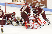 Chris Kreider (BC - 19), John Muse (BC - 1), Patrick Wey (BC - 6), Sahir Gill (BU - 28), Joe Pereira (BU - 6), Philip Samuelsson (BC - 5) - The visiting Boston College Eagles defeated the Boston University Terriers 3-2 to sweep their Hockey East series on Friday, January 21, 2011, at Agganis Arena in Boston, Massachusetts.