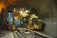 Gleislegung City-Tunnel Leipzig