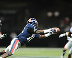 Ole Miss wide receiver Collins Moore (16) makes a catch vs. Tulane in the first half at the Mercedes-Benz Superdone in New Orleans, La. on Saturday, September 22, 2012. Ole Miss won 39-0...