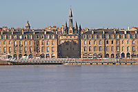 Porte Cailhau. On Les Quais. Bordeaux city, Aquitaine, Gironde, France