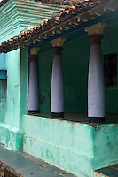 Exterior of a home in Nagapattinam.<br /> Tamil Nadu. South India.