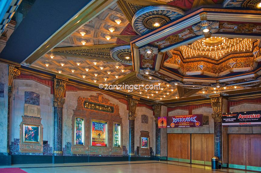 Pantages Theater, Hollywood,  CA, Hollywood, Boulevard, Stars, Walk of Fame, Los Angeles, California, High dynamic range imaging (HDRI or HDR)