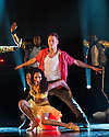 London, UK. 28.05.2014. FLASHMOB in rehearsal at the Peacock Theatre. Picture shows: Karen Hauer and Kevin Clifton. Photograph © Jane Hobson.