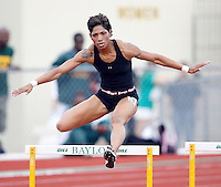 Meka Thompson won the morning session of the 400m hurdles with a time of 59.95secs. @ the Michael Johnson Classic held @ Baylor Univ., Waco, Texas on Saturday, April 21, 2007. Photo by Errol Anderson,The Sporting Image.