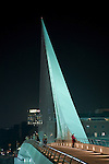 Puente de la Mujer, by Santiago Calatrava in the Puerto Madero district which spans the Rio de la Plata