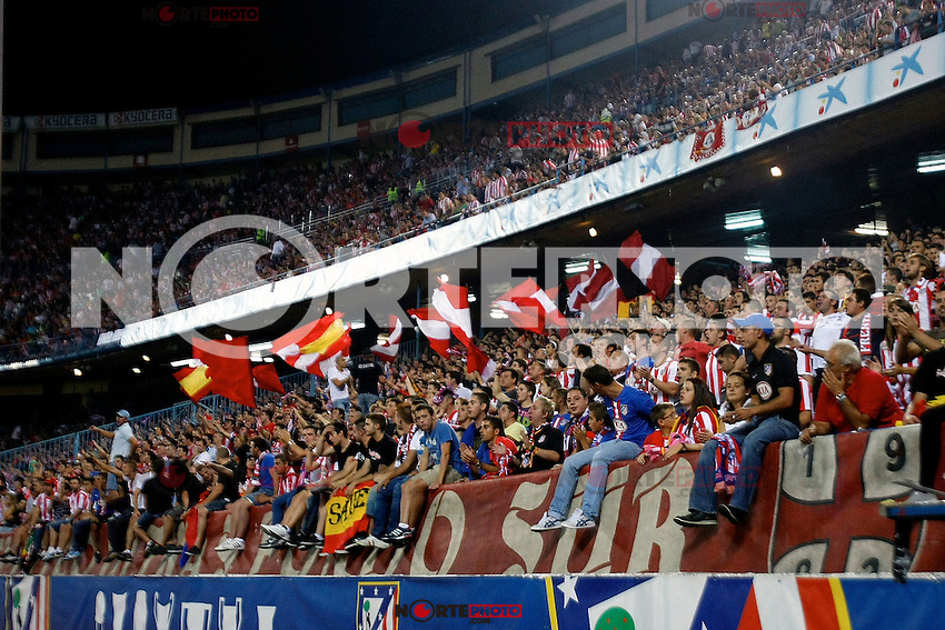 Atletico de Madrid's supporters during La Liga match. September 17,2012.(ALTERPHOTOS/Alconada) /NortePhoto<br />