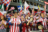 CARSON, CA - March 2, 2013: Chivas Fans during the Chivas USA vs Columbus Crew match at the Home Depot Center in Carson, California. Final score, Chivas USA 0, Columbus Crew 3.