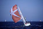 Sailboat race on Puget Sound Seattle Washington State USA..