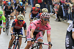 The peloton including race leader Maglia Rosa wearer Lukas Postlberger (AUT) Bora-Hansgrohe pass through Nuoro during Stage 2 of the 100th edition of the Giro d'Italia 2017, running 221km from Olbia to Tortoli, Sardinia, Italy. 6th May 2017.<br /> Picture: Eoin Clarke | Cyclefile<br /> <br /> <br /> All photos usage must carry mandatory copyright credit (&copy; Cyclefile | Eoin Clarke)