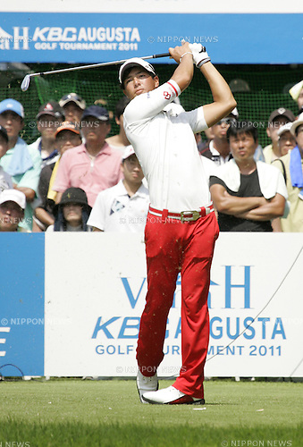 Ryo Ishikawa (JPN),AUGUST 28, 2011 - Golf :Ryo Ishikawa of Japan in action during the final round of the Vana H Cup KBC Augusta Golf Tournament at Keya Golf Club in Fukuoka, Japan. (Photo by AFLO)