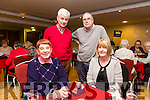 At the Bridge Congress  weekend at the Manor West Hotel on Saturday were Marjorie Barton, Sarah Reynolds, Charlie Reynolds and Ger McSweeney