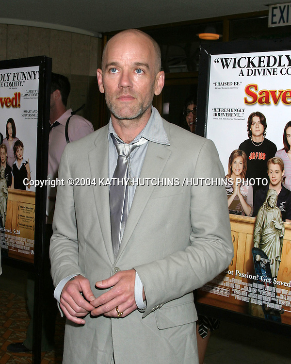 ©2004 KATHY HUTCHINS /HUTCHINS PHOTO.SAVED PREMIERE.WESTWOOD, CA.MAY 13, 2004..MICHAEL STIPE