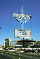 Las Vegas: Silverbird sign. Photo '79.