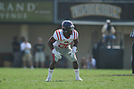 Ole Miss' Aaron Garbutt(20) in Nashville, Tenn. on Saturday, September 17, 2011. Vanderbilt won 30-7..