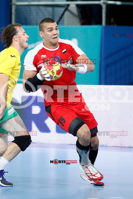 Australia and Algeria during 23rd Men's Handball World Championship preliminary round match, in the pic: Mohamed Mamdouh. January 19 ,2013. (ALTERPHOTOS/Caro Marin) /NortePhoto