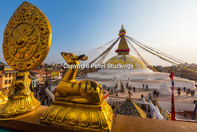 Overview of the Boudhanath Stupa in Kathmandu