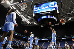 27 March 2015: UNC players warm up before the game. The University of North Carolina Tar Heels played the University of South Carolina Gamecocks at the Greensboro Coliseum in Greensboro, North Carolina in a 2014-15 NCAA Division I Women's Basketball Tournament regional semifinal game. South Carolina won the game 67-65.