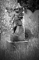 Cherub Angel in an English Churchyard
