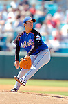 18 March 2006: Yusaku Iriki , pitcher for the New York Mets, on the mound during a Spring Training game against the Washington Nationals. The Nationals defeated the Mets 10-2 at Space Coast Stadium, in Viera, Florida...Mandatory Photo Credit: Ed Wolfstein..