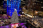 The tree lighting ceremony at Rockerfeller Center in New York. Photographer: Robert Caplin For The New York Times