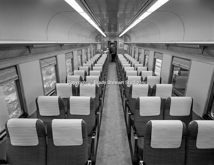 pittsburgh pa view of the inside of the new railroad passenger cars 1964. Black Bedroom Furniture Sets. Home Design Ideas