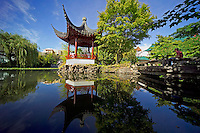 Vancouver, BC, Canada, August 2006. Dr Sun Yat Send Classical Chinese Garden. Vancouver is home to a large asian population and the biggest chinatown outside Asia. Squeezed in between the Rocky Mountains and the Pacific Ocean, Vancouver has a special feel. Photo by Frits Meyst/Adventure4ever.com