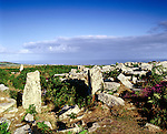 Chun Castle, Morvah, Penwith Moor, Cornwall, England. Celtic Britain published by Orion. This impressive hillfort was occupied from the third century through to the Dark Ages.