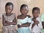 Children in an elementary school sponsored by the United Methodist Church in the village of Wembo Nyama, DR Congo.