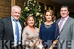 Rudolfs party<br /> ------------------<br /> Kerry Group staff at their Christmas party last Saturday night in the Ballygarry house hotel, Tralee were L-R Tim&amp;Caroline O'Connell with Mike&amp;Ide Doody.
