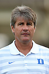 19 August 2014: Duke head coach John Kerr. The Duke University Blue Devils hosted the Radford University Highlanders at Koskinen Stadium in Durham, NC in a 2014 NCAA Division I Men's Soccer preseason match.
