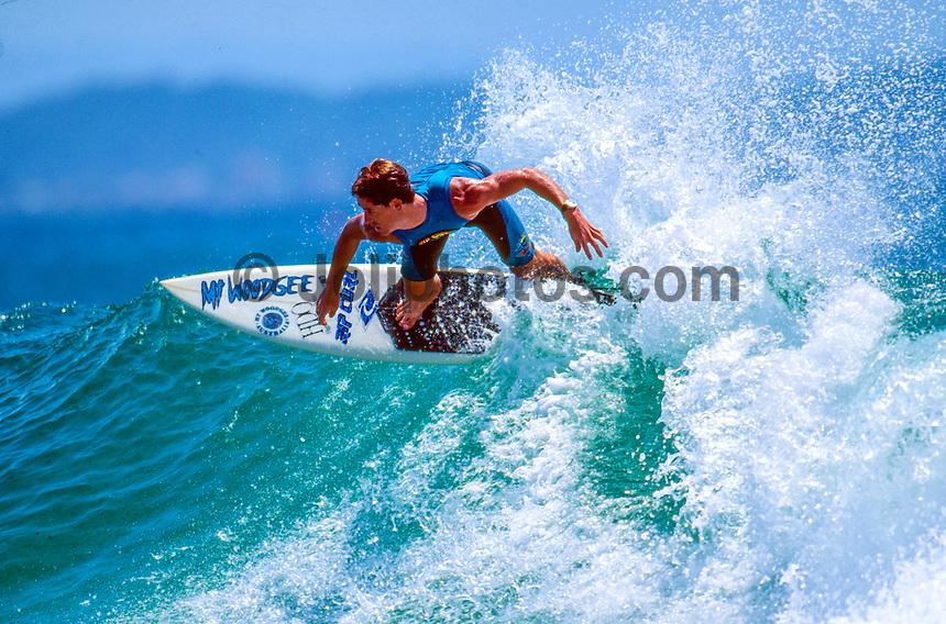 "Jason 'China"" O'Conner (AUS) surfing Greenmount , Coolangatta, Queensland. circa 1993. Photo: joliphotos.com"