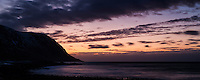 Winter sunset at Eggum coast, Vestvågøy, Lofoten Islands, Norway