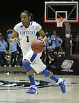 UK Hoops' sophomore guard A'dia Mathies dribbles down the court in the second half of UK Hoops' second round NCAA game against UNC in The Pit in Albuquerque, New Mexico, 3/22/11. Photo by Brandon Goodwin | Staff.