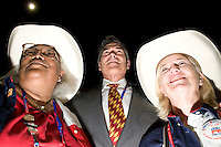 TAMPA, FL - August 27, 2012: Texas Governor Rick Perry with Texas delegates on the floor at the 2012 Republican National Convention.