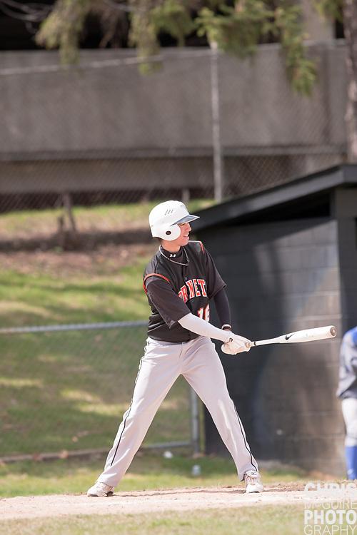 04/17/11 - Kalamazoo, MI:  Kalamazoo College baseball vs Finlandia.  Kalamazoo won the doubleheader 7-4 and 14-2.  Photo by Chris McGuire.
