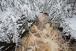 Porcupine Mountains Wilderness State Park, Presque Isle River, Winter