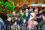 Kieran Donaghy and Mayor Terry O'Brien turning on the Tralee Christmas lights in Tralee on Saturday.