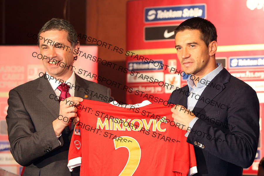 Zoran Bata Batica Mirkovic sport soccer football fudbal Direktor a i mlade reprezentacije Srbije 24.4.2007. photo: Pedja Milosavljevic
