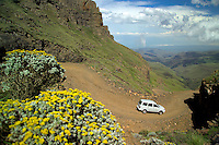SANI PASS, SOUTH AFRICA, DECEMBER 2004. The Sani Pass on the border with the kingdom of Lesotho has the highest pub of Africa and is a good place to go mountain biking. South Africa  offers some of the world's most beautiful views and many cultures. Photo by Frits Meyst/Adventure4ever.com