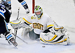 23 November 2011: University of Vermont Catamount goaltender Kelci Lanthier, a Junior from Mt. Airy, MD, in action against the University of Maine Black Bears at Gutterson Fieldhouse in Burlington, Vermont. The Lady Bears defeated the Lady Cats 5-2 in Hockey East play. Mandatory Credit: Ed Wolfstein Photo