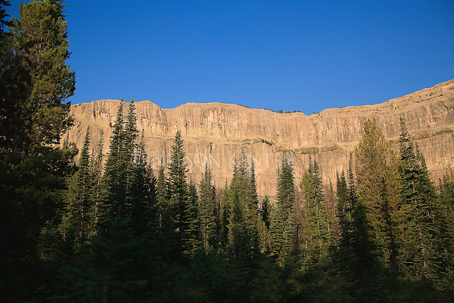 A view of the Chinese Wall in Montana's Bob Marshall Wilderness